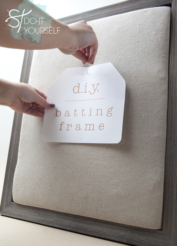 DIY | easy batting frame - Something Turquoise {daily bridal ...