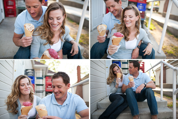 ice cream engagement