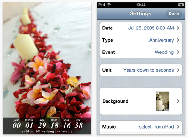 wedding countdown wedding planning app