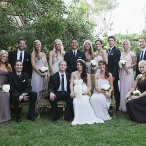 beautiful mismatched bridal party