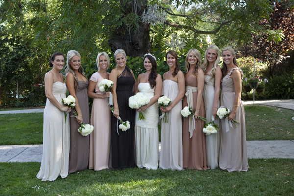 gorgeous mismatched bridesmaids dresses
