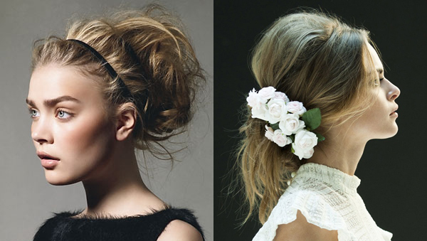 Hair Styles For Weddings: The Messy Look - Something Turquoise