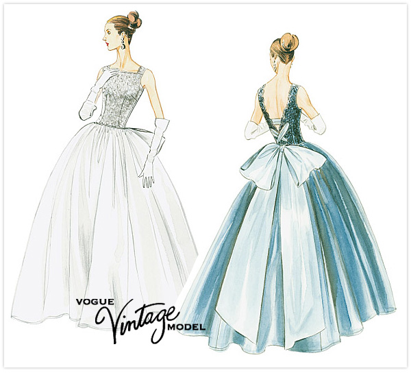 Vintage dress pattern for Wedding dress patterns vintage