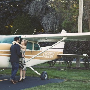 airplane engagement shoot