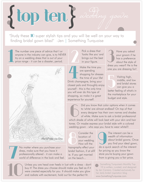 top 10 tips for finding a wedding gown