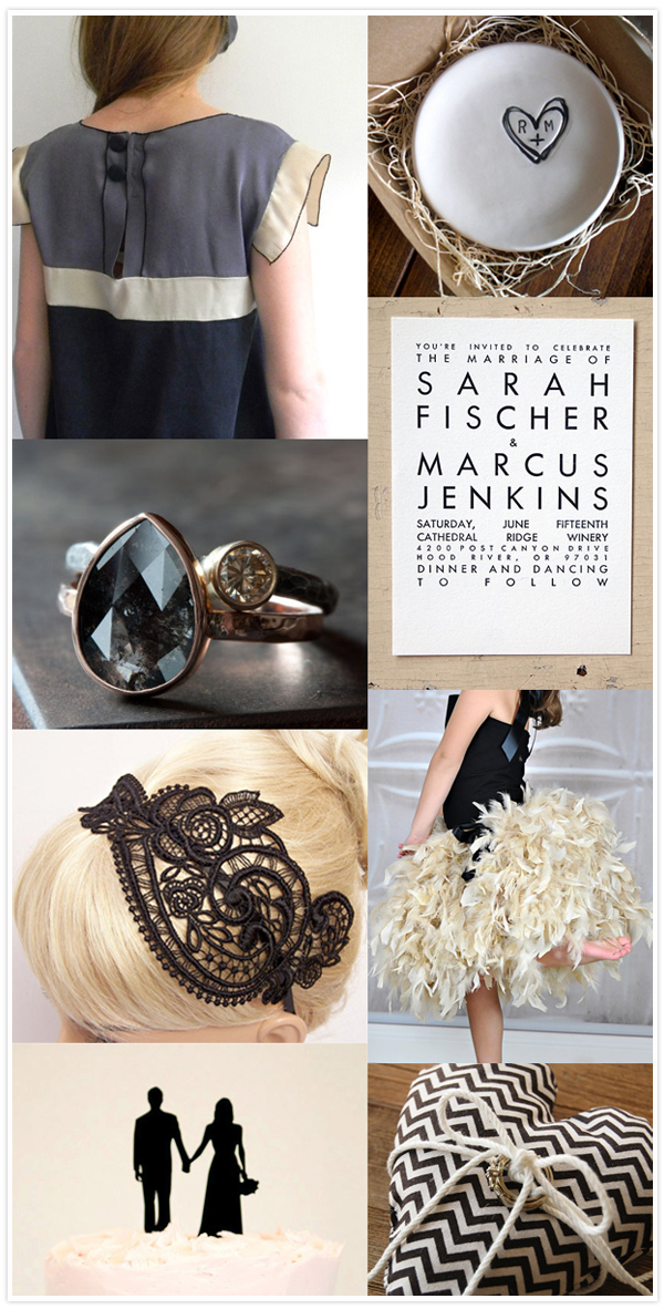 black taupe wedding inspiration