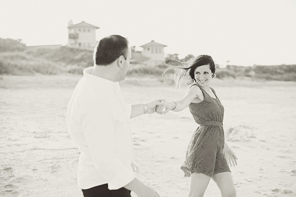 colorful beach engagement ~ Weber Photography