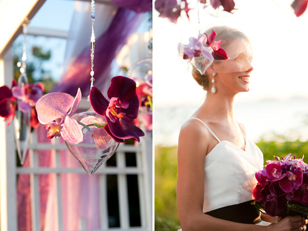 purple ombre wedding inspiration
