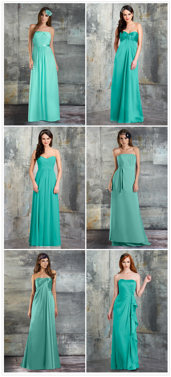 Bari Jay mismatched seamist bridesmaid dresses 2013