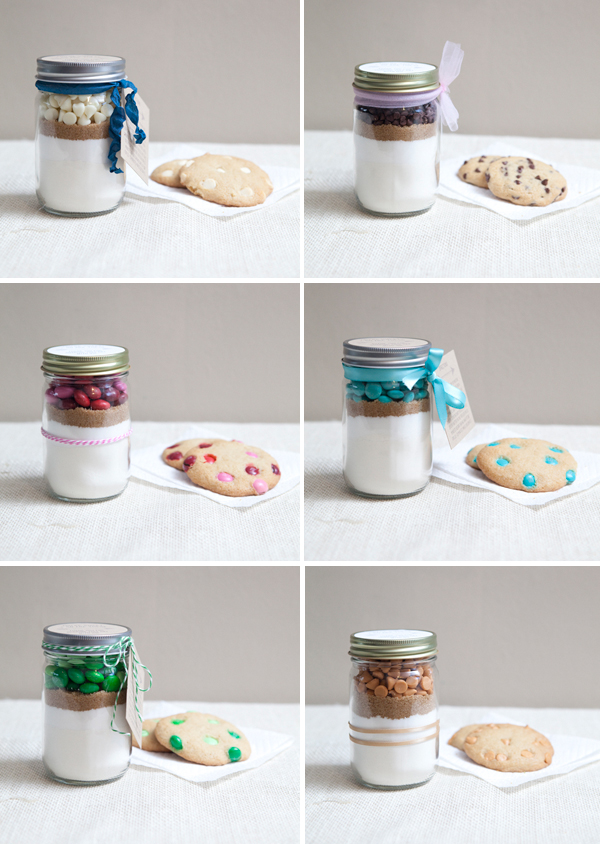 DIY Mason Jar Cookie Mix Gift Wedding Favor
