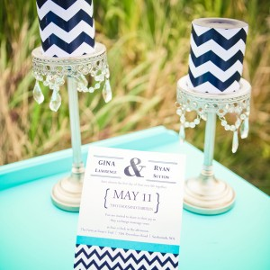 turquoise navy blue chevron wedding inspiration