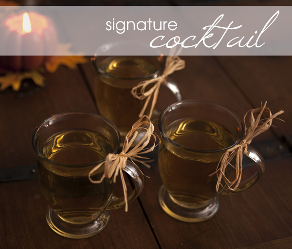 signature wedding cocktail pumpkin pie hot toddy