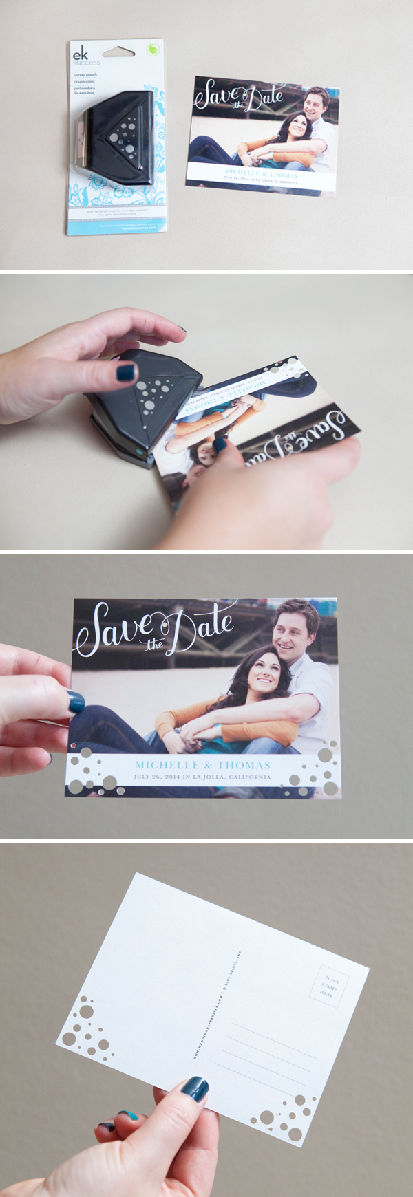 Easily Embellished Save The Dates With Wedding Paper Divas