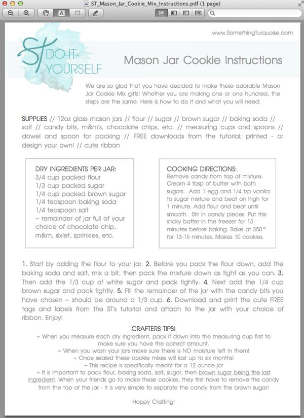 How To Make Diy Mason Jar Cookie Mix Gifts