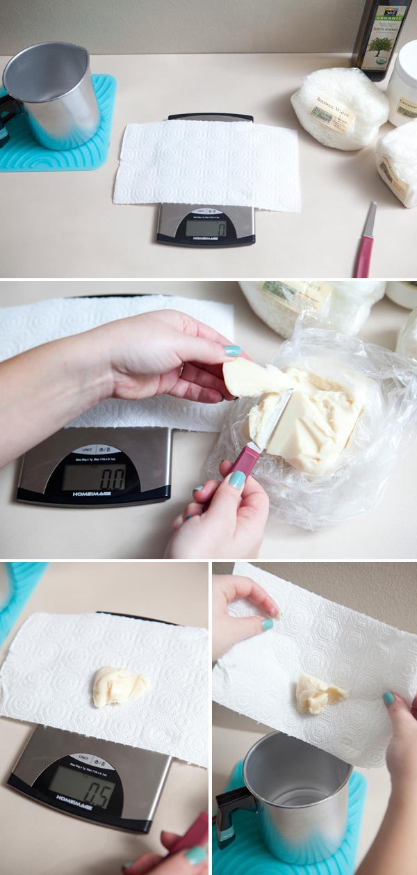 DIY homemade lip balm wedding favors