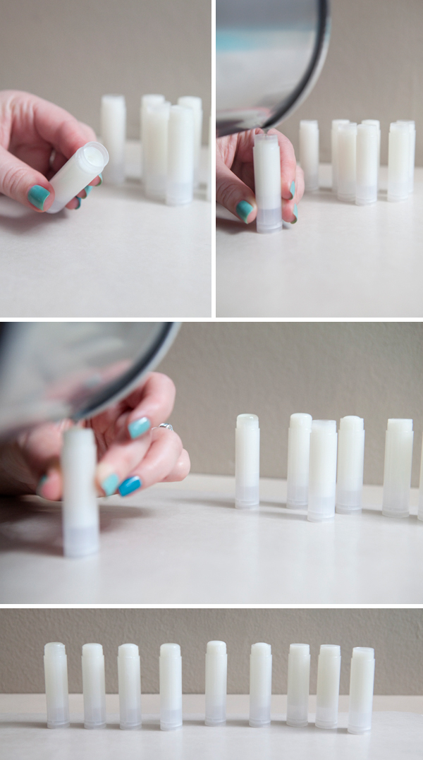DIY homemade lip balm wedding favors
