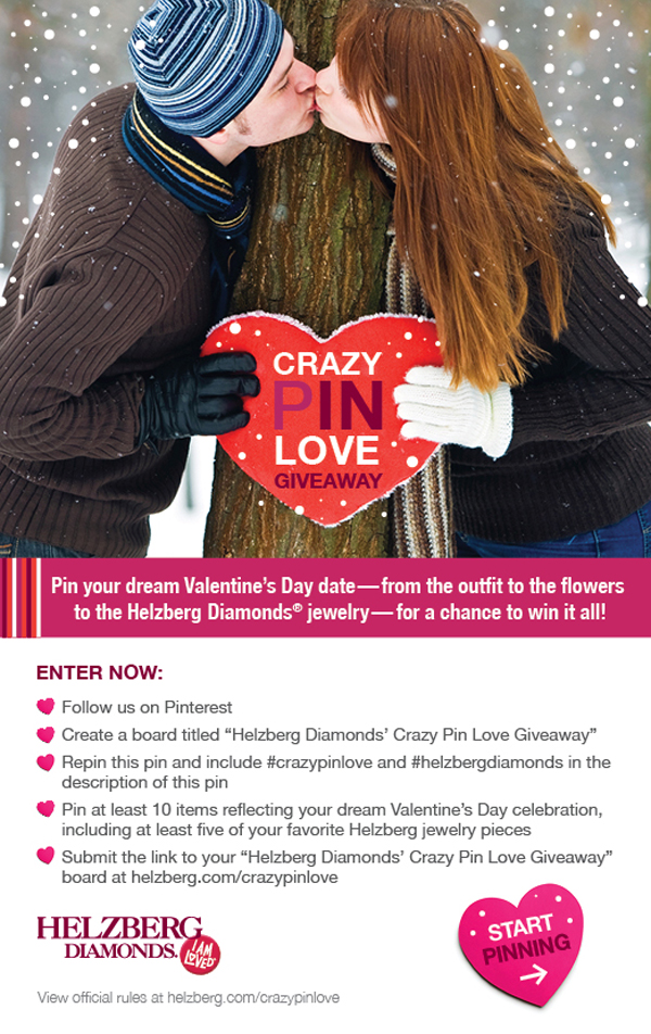 Helzburg Diamonds Crazy Pin Love Giveawa