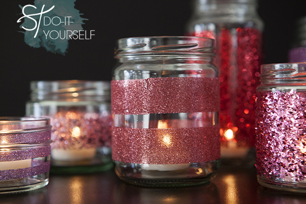 How To Make Diy Glittered Glass Jars Perfect Candle Holders