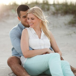 st. george beach engagement