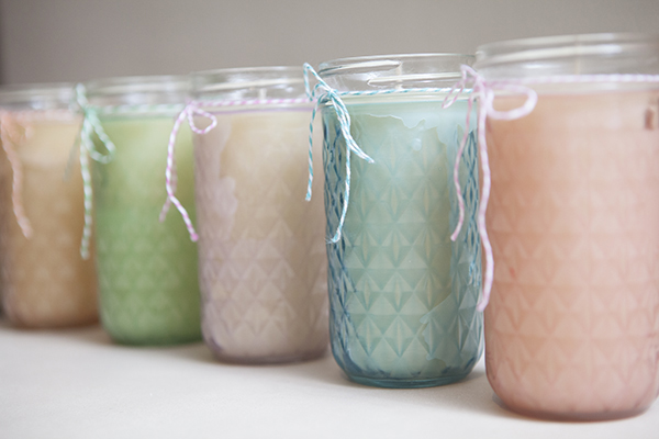 mason jar candles wedding