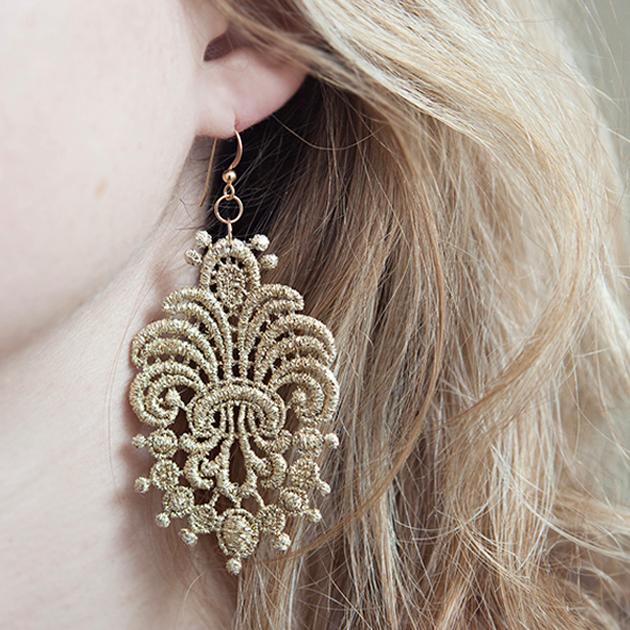 e683d0d0f68ba DIY | lace applique earrings - Something Turquoise