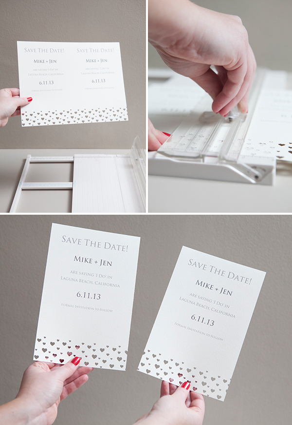 DIY | hand punched save-the-date invitations - Something Turquoise