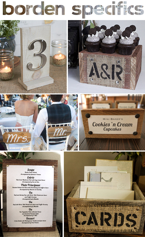 rustic wedding decor + giveaway!