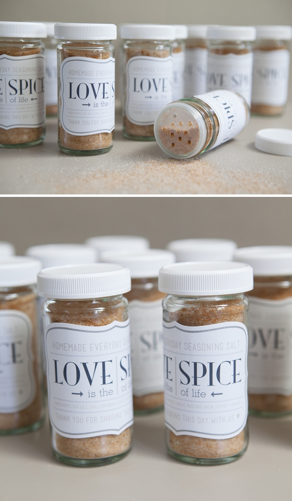 Diy Homemade Love Spice Favor Jar Something Turquoise