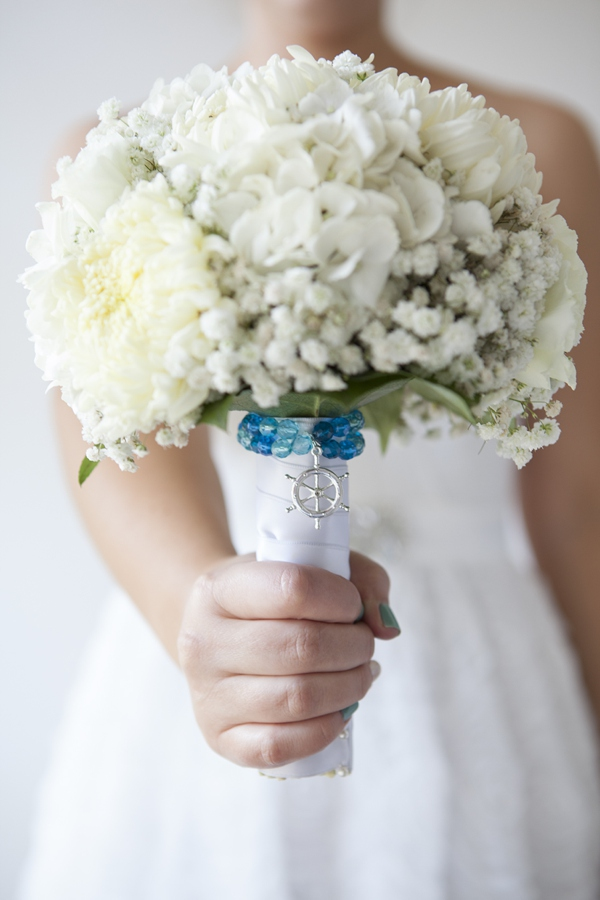 diy wedding bouquet charm bracelets something turquoise