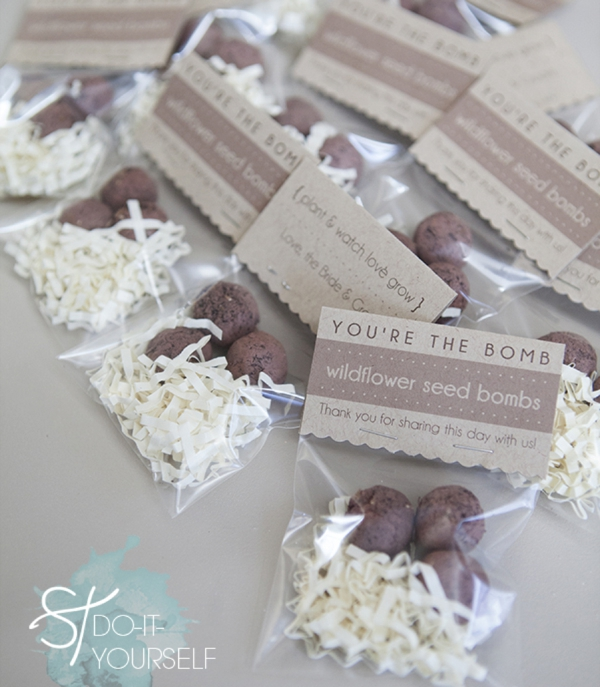 Do It Yourself Wedding Gift Tags : DIY Seed Bomb wedding favors - Something Turquoise