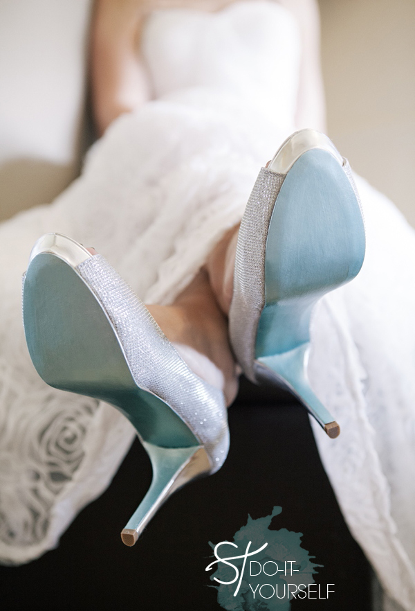 Perfect ST_DIY_painted_something_blue_shoe_soles_0001. SUPPLIES: Your Special Wedding  Shoes ...
