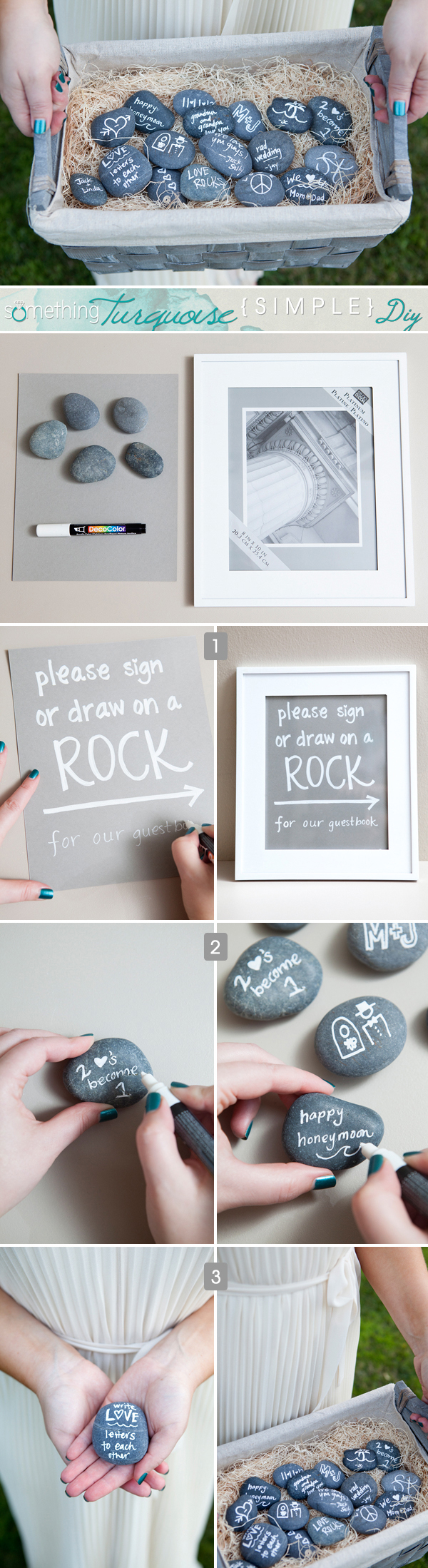 DIY Rock Guest Book Wedding