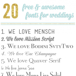 Here Are 20 Awesome And Free Wedding Fonts That You Need