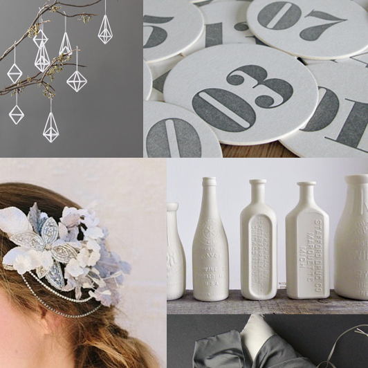 Etsy Inspiration Sultry Gray Porcelain White