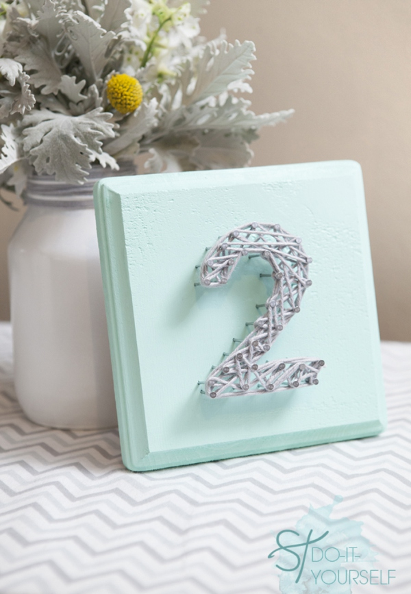 Diy String Art Table Numbers For Your Wedding