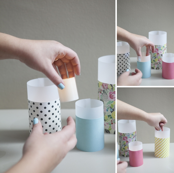 Learn how to make paper lanterns ~ in different sizes!
