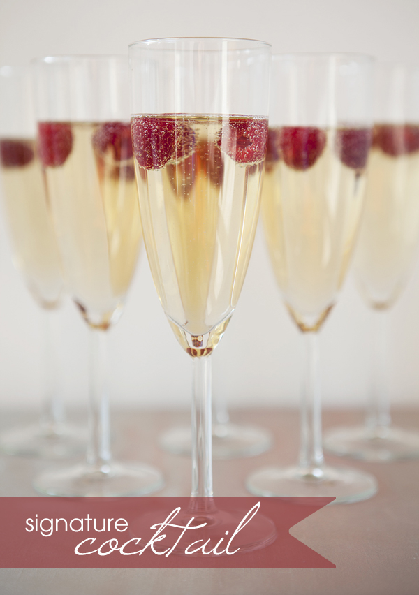 Signature Drink ~ raspberry champagne cocktail recipe!