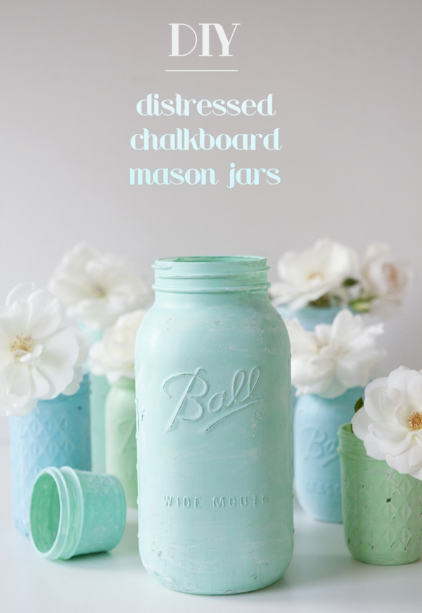 jar decoration ideas.htm how to make distressed chalkboard mason jars   distressed chalkboard mason jars