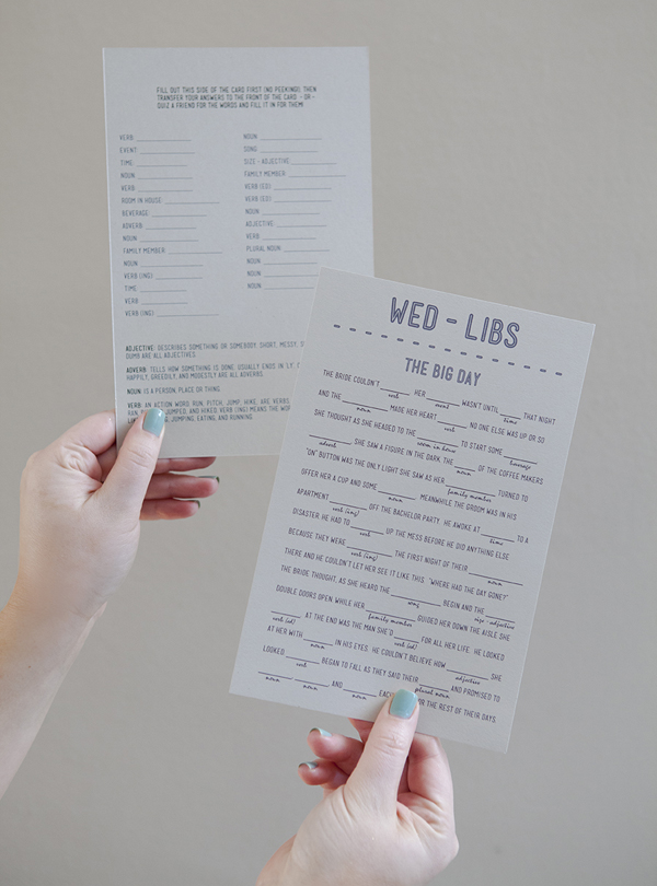 free wedding mad libs