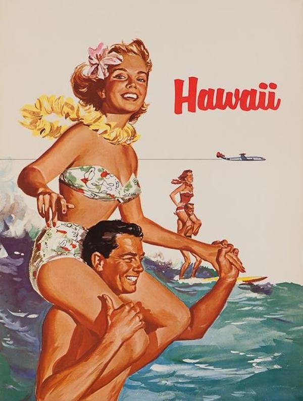 vintage hawaii vacation ad