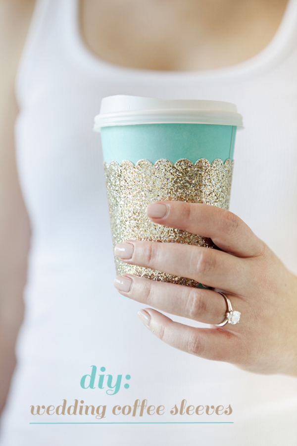 Somethingturquoise Diy How To Make Wedding Coffee Sleeves 0001