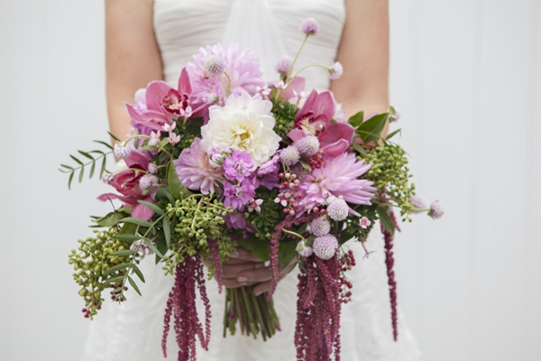How to make a wild flower crescent shaped wedding bouquet for Crescent bouquet