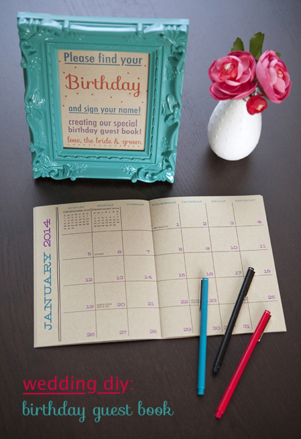 How To Make A Birthday Calendar Guest Book