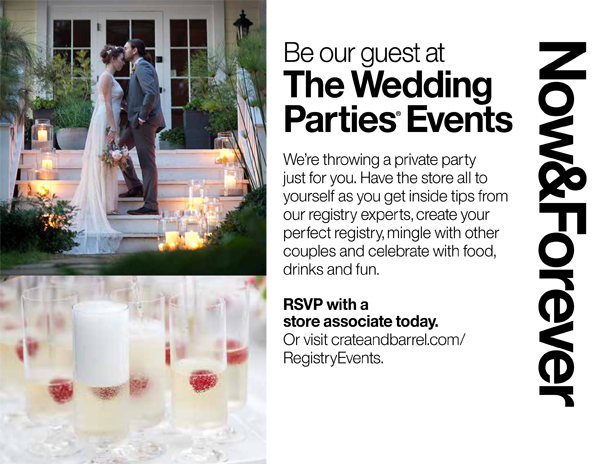 crate barrel wedding and entertaining inspiration