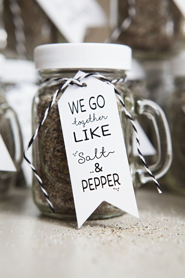 Make Your Own Salt Pepper Mason Jar Spice Shaker Favors