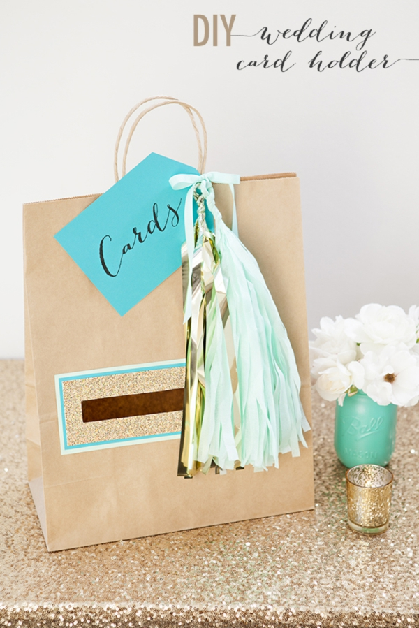 Gift Card Or Check For Wedding Gift : SomethingTurquoise_DIY_wedding_card_holder_gift_bag_0001.jpg