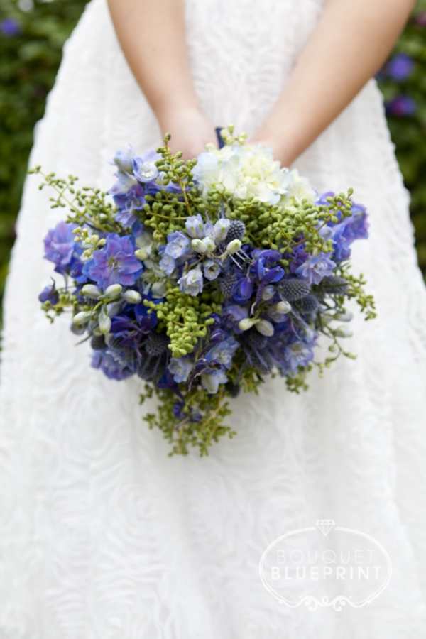 Check Out This Stunning Blue Wedding Bouquet And How To Make It