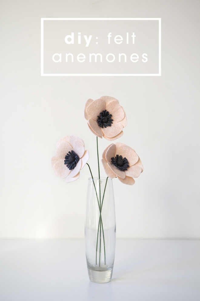 How to make a felt anemone flower