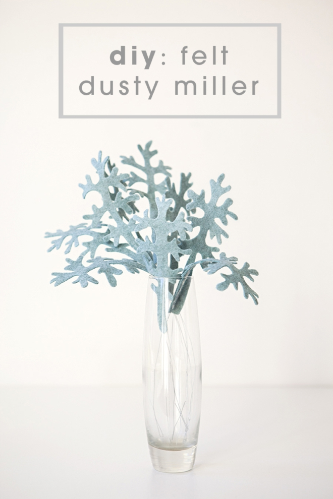 how to make felt dusty miller leaves