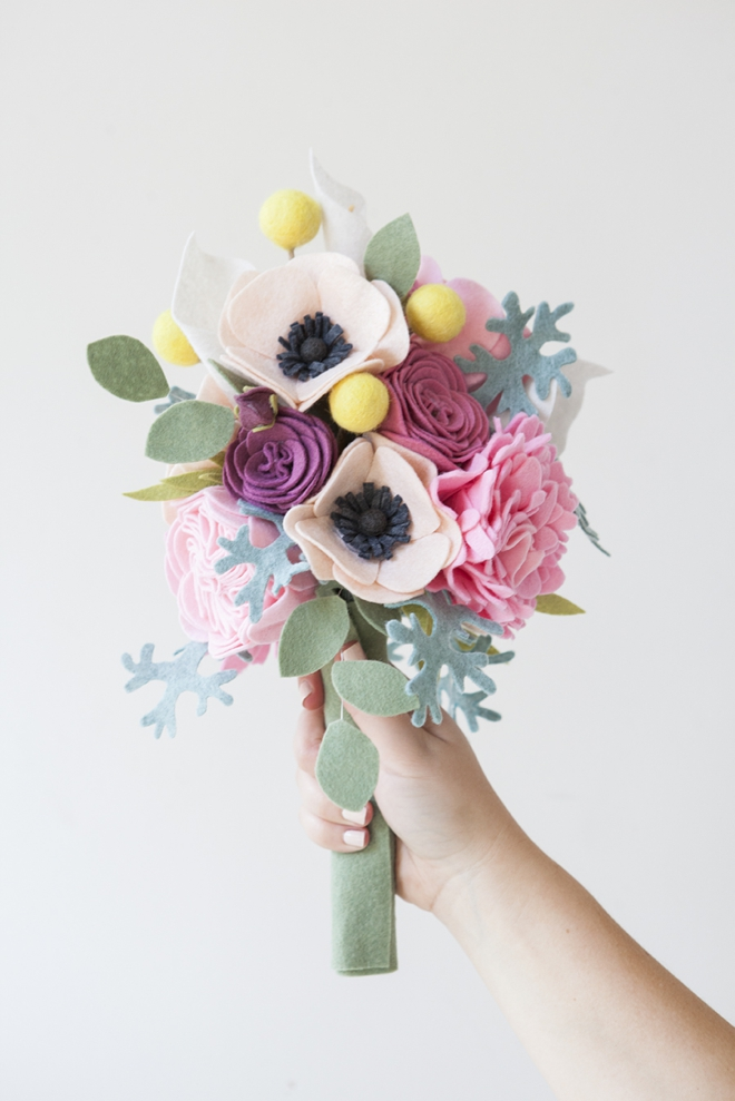 Diy How To Make A Felt Wedding Bouquet